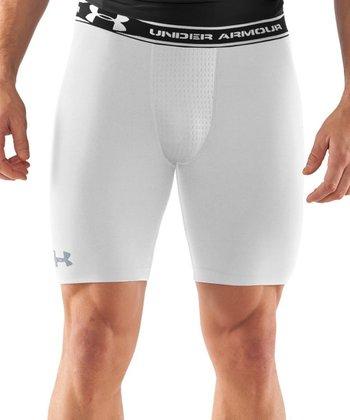 White HeatGear® Vented Compression Shorts - Men & Tall