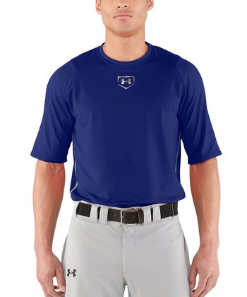 Royal Blue Diamond Armour™ Baseball Short-Sleeve Top - Men & Tall