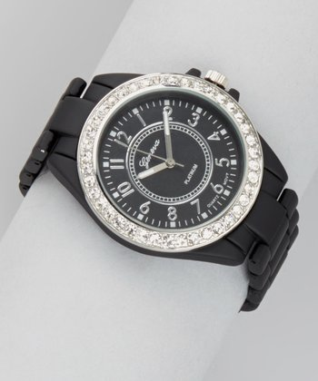 Black Rhinestone Watch