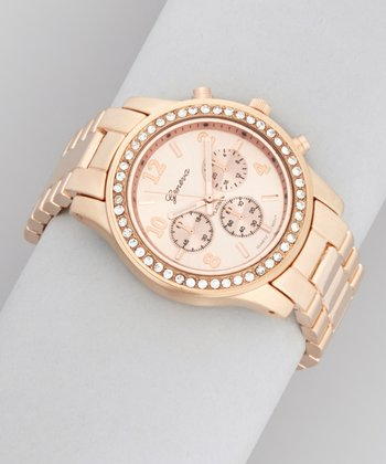 Rose Gold Chronographic Watch