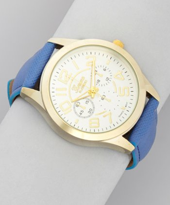 Blue & Gold Roman Numeral Watch