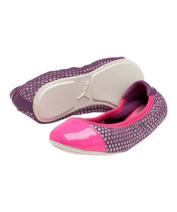 Sparkling Grape Kitara Polka Dot 2 Flat - Women