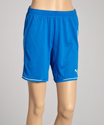 Puma Royal Blue & White Manchester Shorts