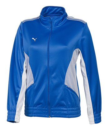 Princess Blue & White Statement Jacket - Women