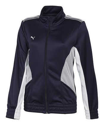 New Navy & White Statement Jacket - Women
