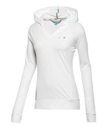 White Turbulence Heather Favorite Hooded Cover-Up