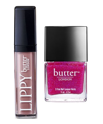 Yummy Mummy Lippy & Disco Biscuit Nail Polish Set