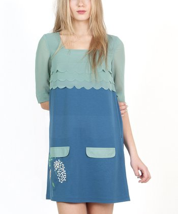 Blue Marine Ondas Liberty Dress