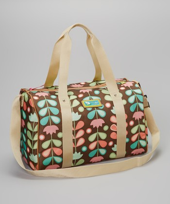Lily Bloom Brown Floral LilyZen Weekender