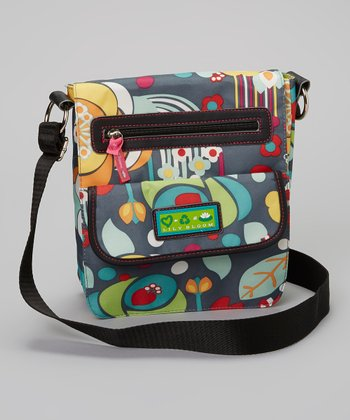 Lily Bloom Gray Floral Crossbody Bag