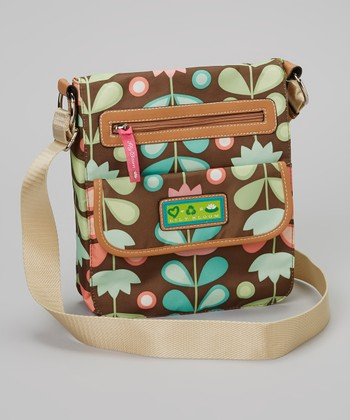 Lily Bloom Brown Floral Crossbody Bag