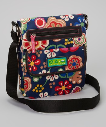 Navy Floral Crossbody Bag