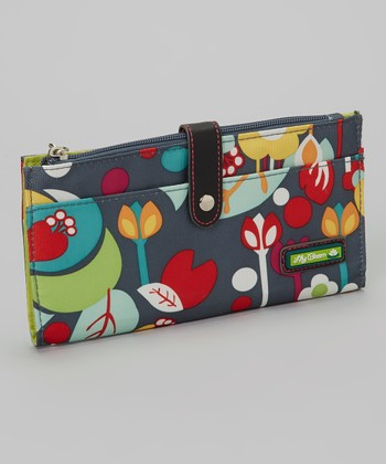 Lily Bloom Gray Floral Wallet