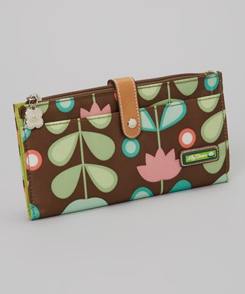 Lily Bloom Brown Floral Wallet