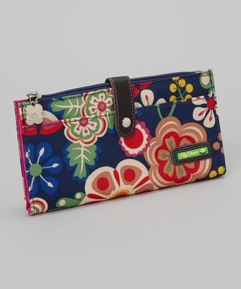 Lily Bloom Navy Floral Wallet