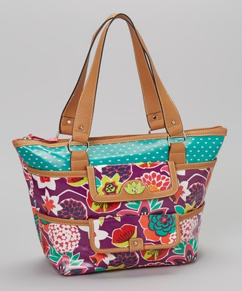 Lily Bloom Purple Bouquet Tote