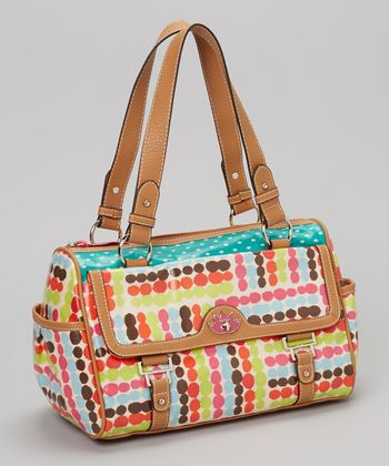 Pink & Blue Polka Dot Satchel