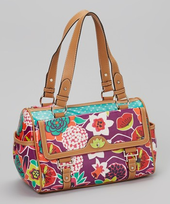 Purple Bouquet Satchel