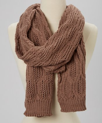 Light Khaki Wool-Blend Scarf