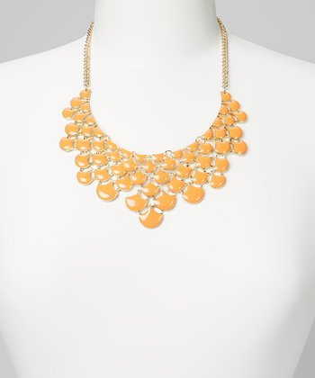Orange Drop Bib Necklace