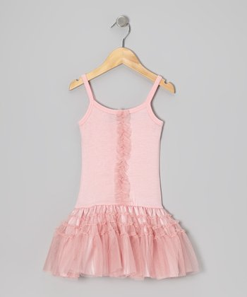 Candy Pink Drop-Waist Dress - Infant
