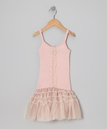 Dusty Pink Tulle Drop-Waist Dress - Infant & Toddler
