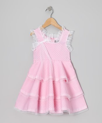 Pink Polka Dot Ruffle Dress - Infant
