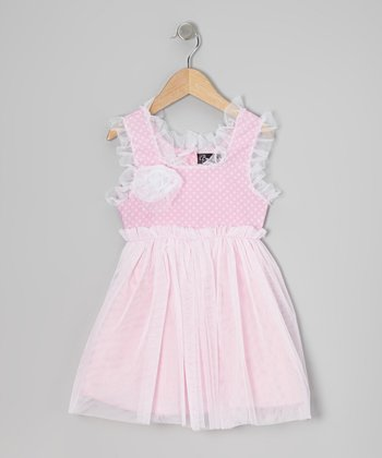 Pink Polka Dot Sugar Tulle Dress - Infant