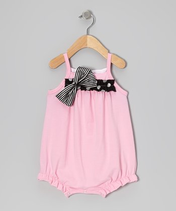 Pink Cotton Candy Bubble Romper - Infant