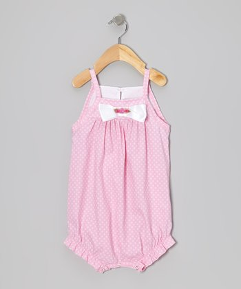 Pink Polka Dot Bubble Romper - Infant