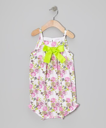 Pink Blushing Bloom Bubble Romper - Infant