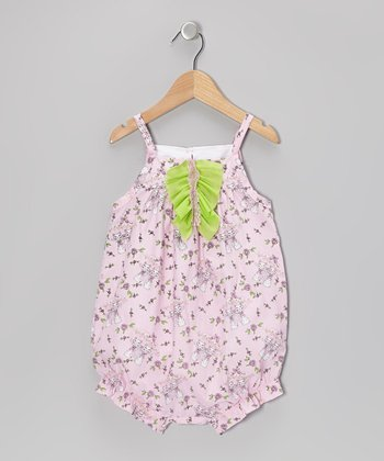 Pink Rainy Day Cat Bubble Romper - Infant