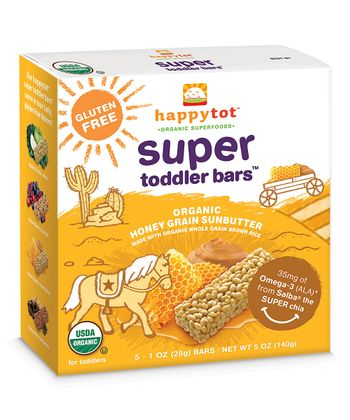Honey Grain Sunbutter Super Toddler Bars - Set of Six