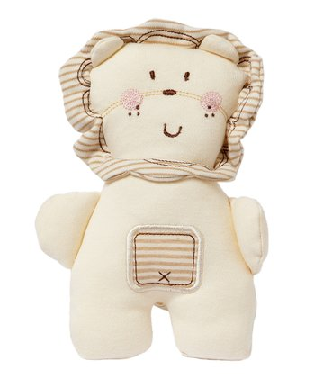 White & Brown Stripe Organic Lion Plush Toy