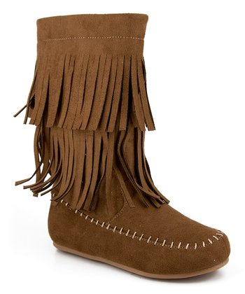 Chestnut Fringe Boot