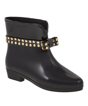 Black Picabelt Rain Ankle Boot