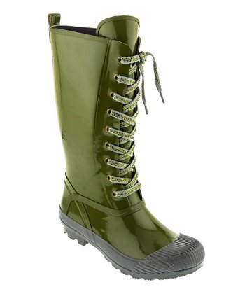Olive Awesome Rain Boot