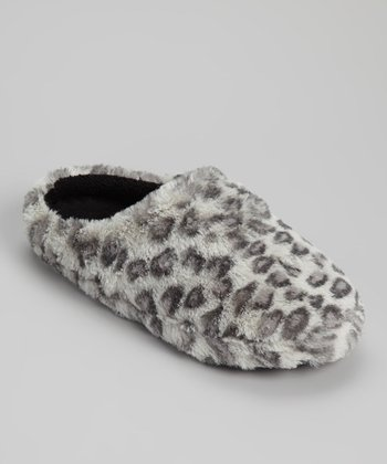 Gray & Black Cheetah Slipper
