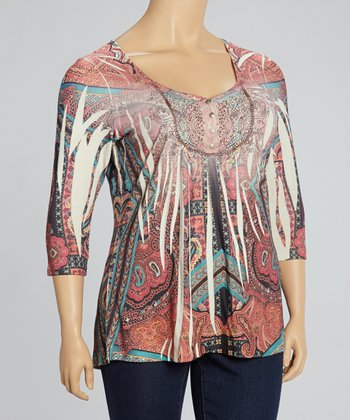 Weaving Dreams & Stone Paisley Sublimation Top - Plus