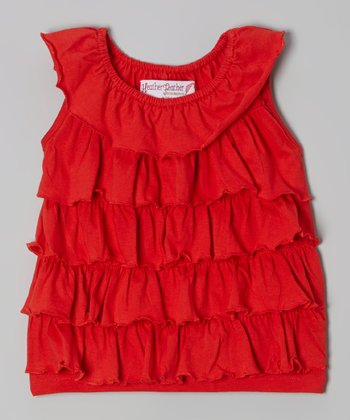 Red Ruffle Top - Toddler & Girls