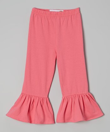 Pink Ruffle Pants - Toddler & Girls