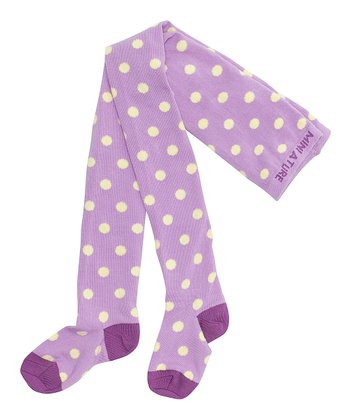 Mauve Orchid Polka Dot Elka Tights - Infant & Girls