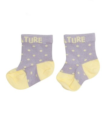 Lavender Gray Polka Dot Evo Socks