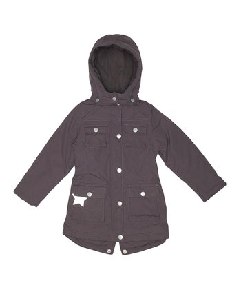 Dark Coffee Windie Jacket - Girls