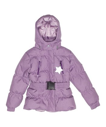 Grape Purple Fernanda Puffer Coat - Infant, Toddler & Girls