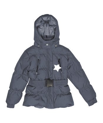 Ombré Blue Fernanda Puffer Coat - Infant, Toddler & Girls