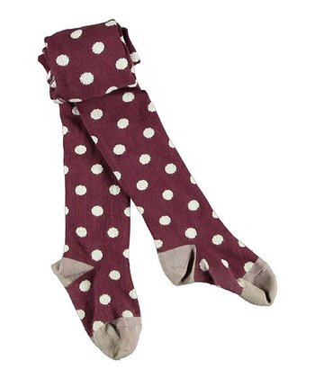 Prune Purple Polka Dot Elka Tights - Infant & Girls