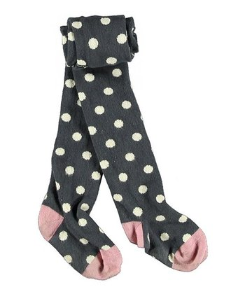 Ombré Blue Polka Dot Elka Tights - Infant
