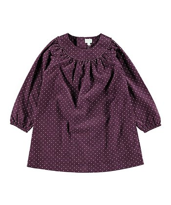 Prune Purple Polka Dot Annlil Top - Infant, Toddler & Girls