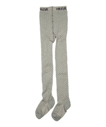 Gray Mélange Emai Wool-Blend Tights - Infant & Girls